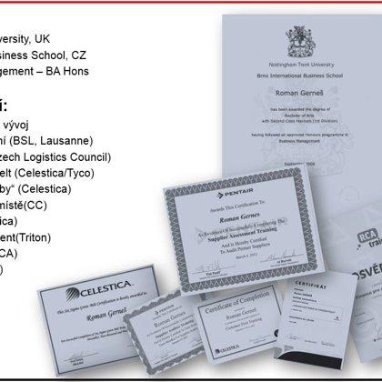 Vzdělání a certifikace